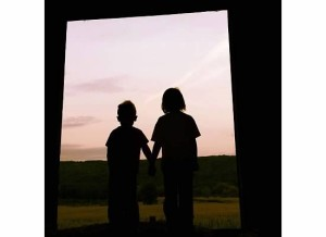 One of my favorite pictures!!! The kids looking out the back barn door.